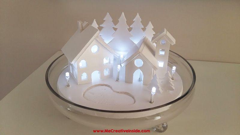 Me CreativeInside Paesaggio Natalizio poliplat  natale  Ceiling Lights Home Decor Lighting