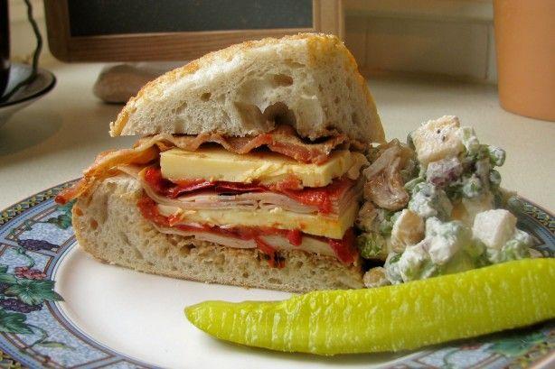Bacon Turkey Bravo Sandwich Recipe Lunch Ideas Pinterest