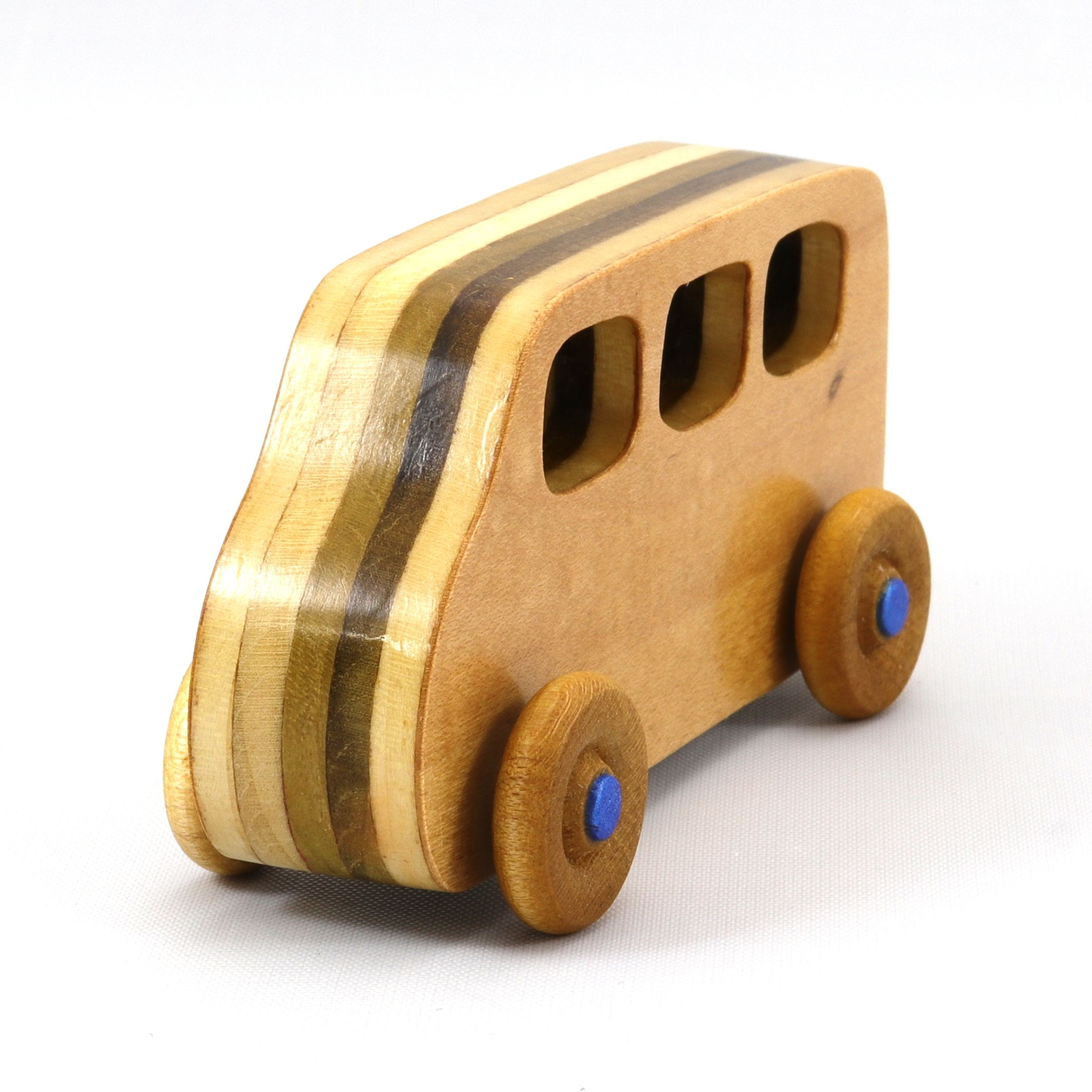 Handmade Wooden Toy Car Mini Van Bus Finished With Nontoxic Amber Shellac From The Play Pal Series In 2021 Handmade Wooden Toys Wooden Toys Wooden