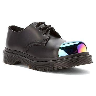 Dr  Martens Grip External Steel Toe Shoe Black Smooth