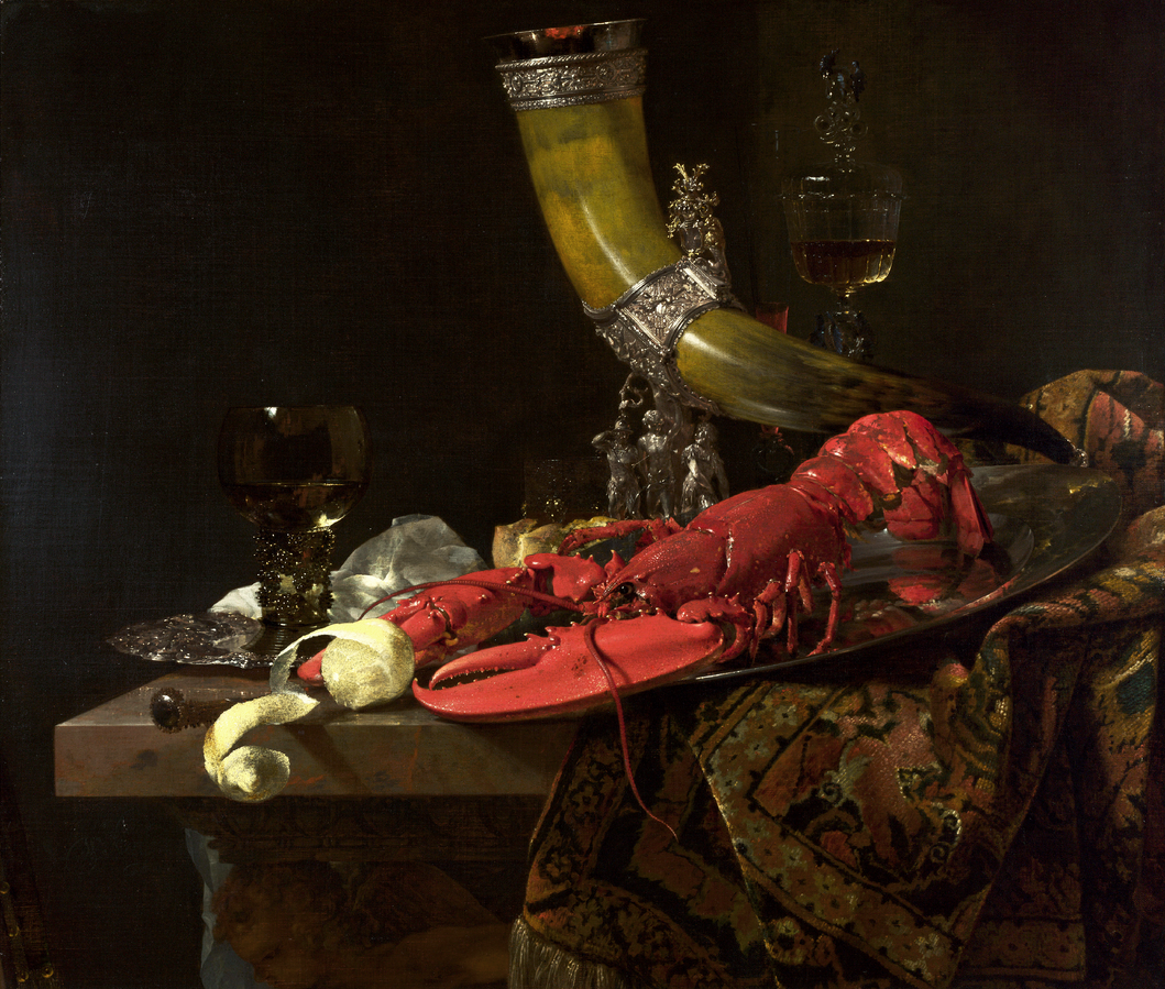 Willem Kalf, Still Life with Drinking-Horn, c. 1653, oil on canvas, National Gallery