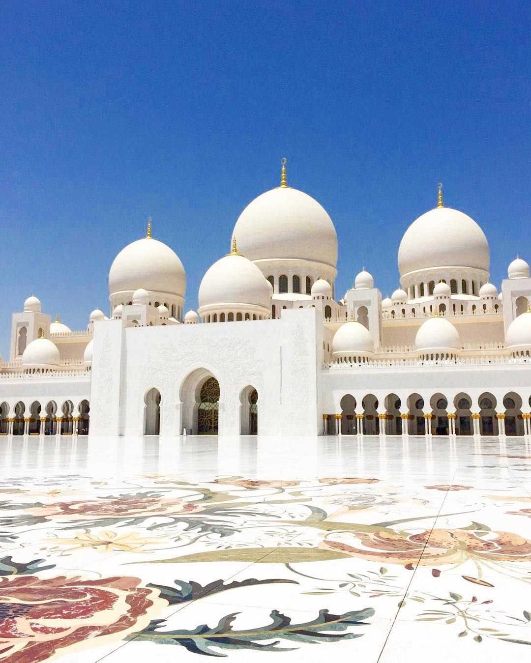 Exterior: Sheikh Zayed Grand Mosque Center Rises Majestically From