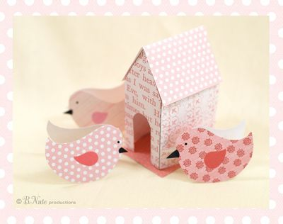bnute productions: Free Printable Birdies and Birdie House