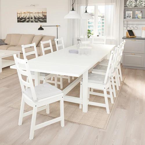 Nordviken Extendable Table White 82 5 8 113 3 4x41 3 8 Table