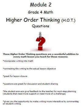 006 Grade 4 Math Module 2 Higher Order Thinking (HOT