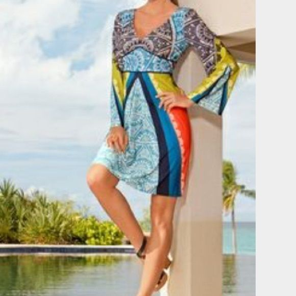 Boston Proper Muse Monte Carlo V Neck Dress Sz4 In Best Ing Body Now A New Print By Exclusive To Polyester Spandex