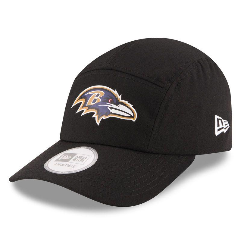 hot sale online 737fa 8ba27 Baltimore Ravens New Era On Field Training Camp Runner Adjustable Hat -  Black