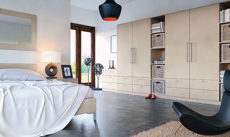 fde7bc4de4 Zurfiz Ultramatt Metallic Cashmere Doors | Modern Hinged Wardrobes ...