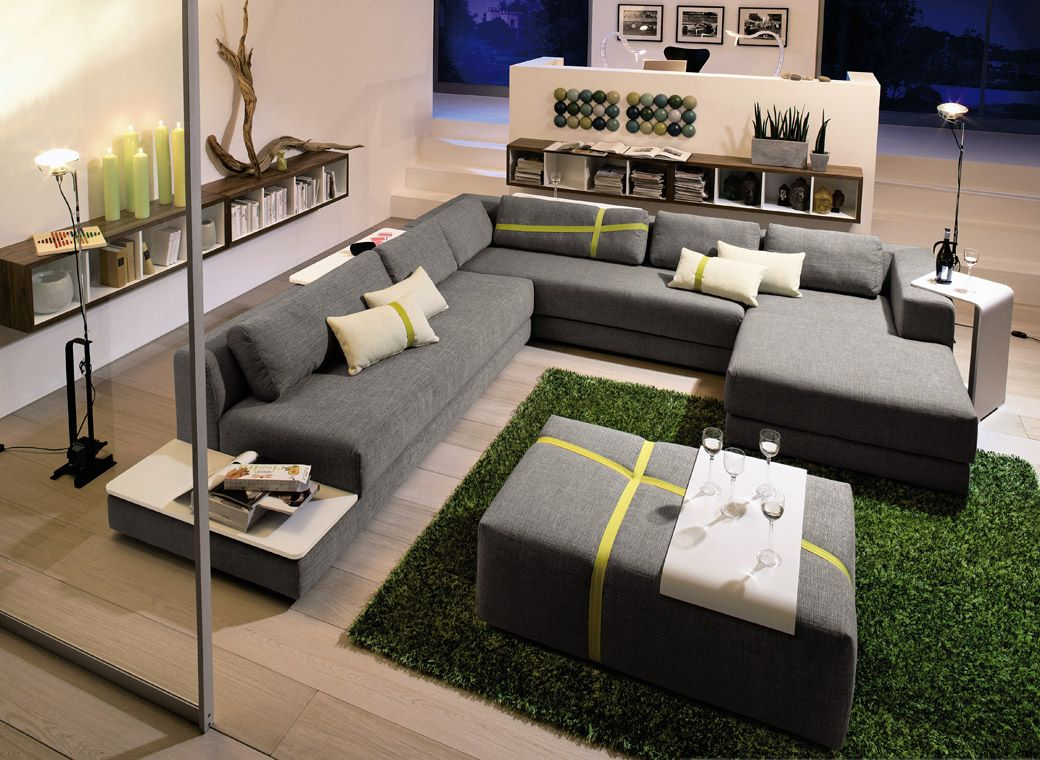 Canap d angle lounge now hulsta living rooms condos for Salon canape angle