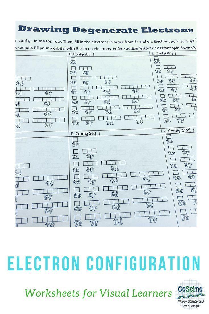 Electron Configuration Worksheet Answer Key Drawing