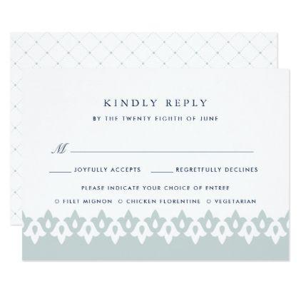Arabesque Meal Choice RSVP Card Mist weddinginvitations