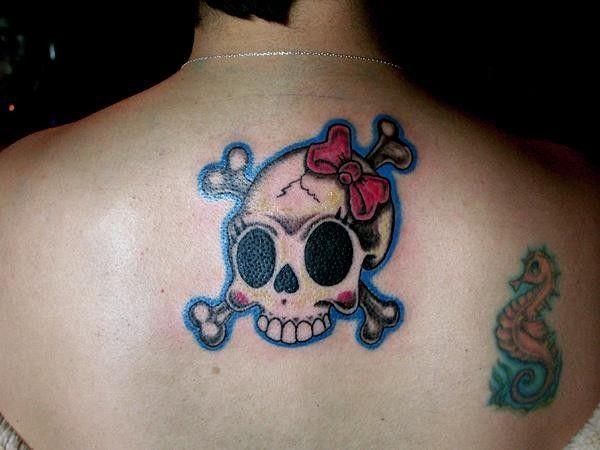 Pretty skull tattoos for women lonny morgan girly for Pretty skull tattoos