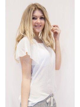 #Set #kurzärmel #weiß Schnapp dir diese schöne #Bluse bei #LeoniExclusive.