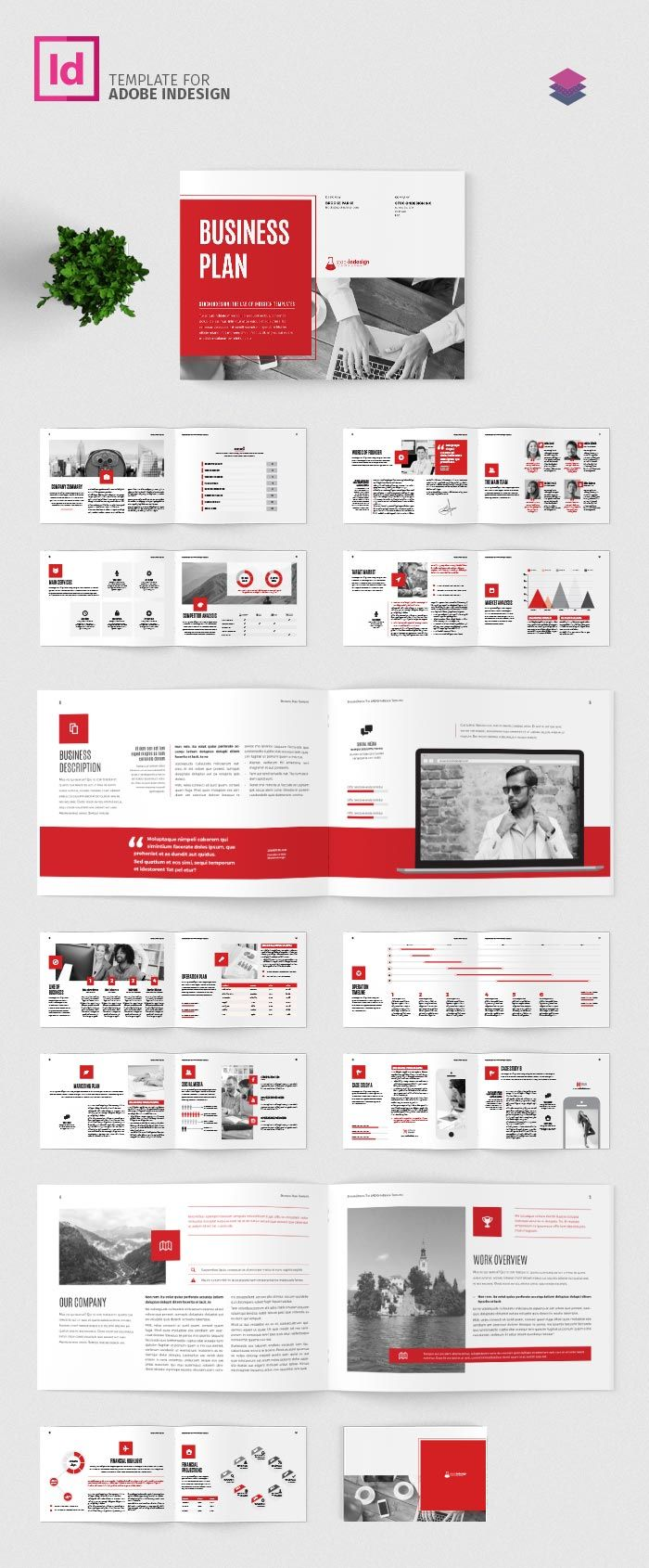 Business Plan Template Landscape  Presentation Ideas