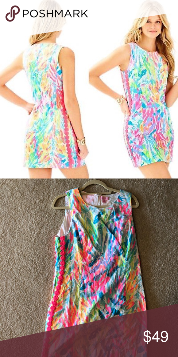 c0fa80cd Lilly Pulitzer Sparkling Sands Mila Shift EUC! Just needs a steam :) Lilly  Pulitzer Dresses