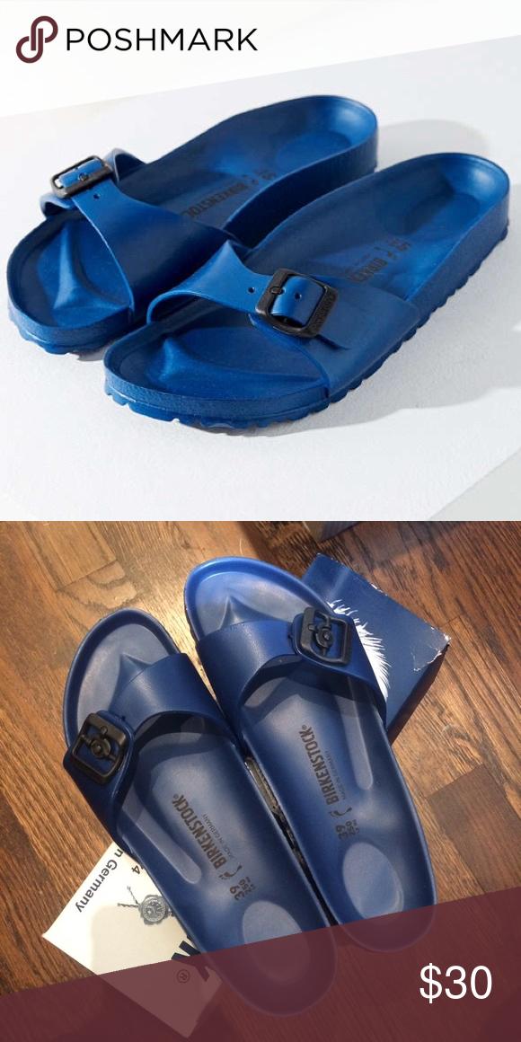 6fe4ea2e8ca Birkenstocks Navy blue - new in box. Authentic Birkenstocks Madrid  waterproof Eva slides. Final price Birkenstock Shoes Sandals