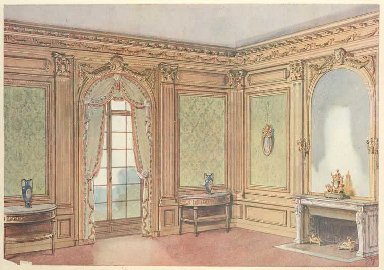 Salle-a-manger-Louis-XVI--Corner-of-a-dining-room-wi - the - salle a manger louis