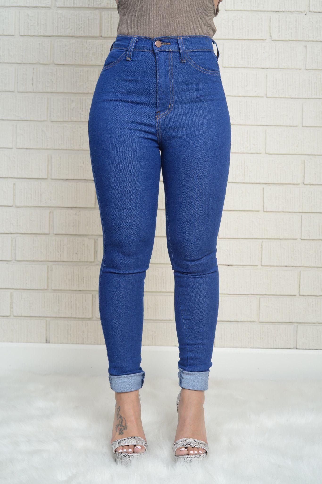 250010327d Vintage High Waist Skinny Jeans