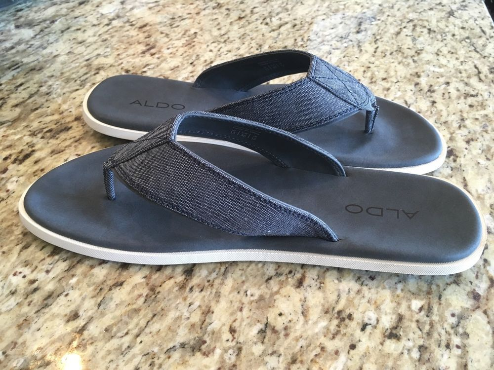34eb38a3d56 New ALDO Men s Berawen Flat Sandal Flip Flop Chanclas US 13 blue  fashion   clothing  shoes  accessories  mensshoes  sandals (ebay link)