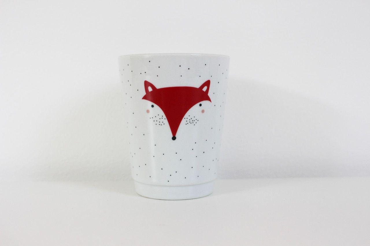 Porzellan Papeterie Porzellanbecher Fuchs schöner