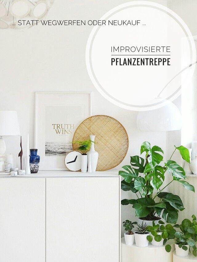 Grün auf Weiß | Wohnzimmer pflanzen, Teelichthalter und ...