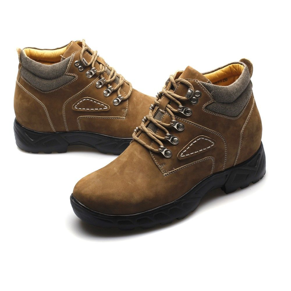 New Style 8cm Brown Boot lifts shoes