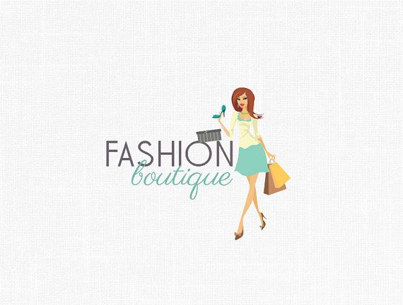 Custom Fashion Girl Logo Fashion Boutique Fashion Logo Custom Fashion Boutique Logo