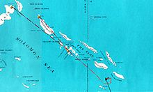 The Battle of Rennell Island (Japanese: レンネル島沖海戦) took place on 29–30 January 1943. It was the last major naval engagement between the United States Navy and the Imperial Japanese Navy during the Guadalcanal campaign of World War II. It occurred in the South Pacific between Rennell Island and Guadalcanal in the southern Solomon Islands.