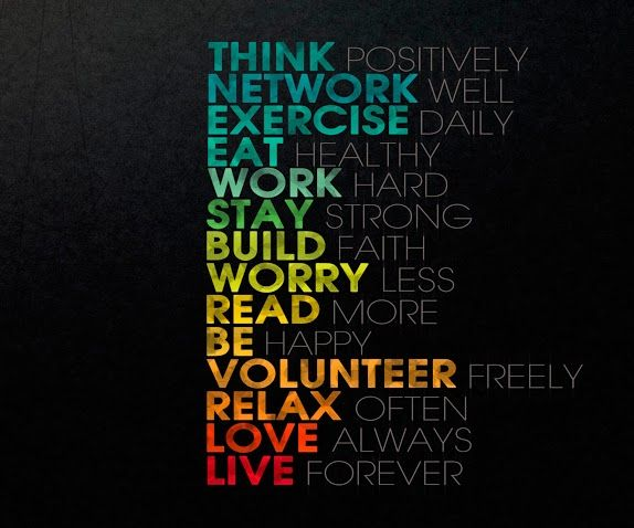 To live by....