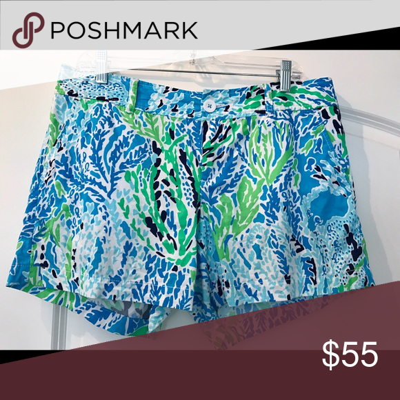 Size 12 Lilly Pulitzer Callahan Shorts Size 12 Callahan Shorts. Print is Navy LLC. Good condition, some minor pilling in between legs as typical of wear. Lilly Pulitzer Shorts