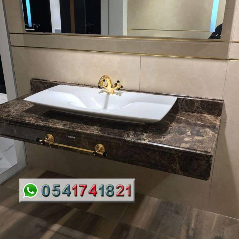 مصنع ايديال استون مغاسل رخام طبيعي وصناعي تفصيل حسب الطلب مغاسل رخام حديثة مغاسل رخام جدة خبرة اكثر من 22 عا Home Decor Kitchen Kitchen Decor Bathroom Vanity