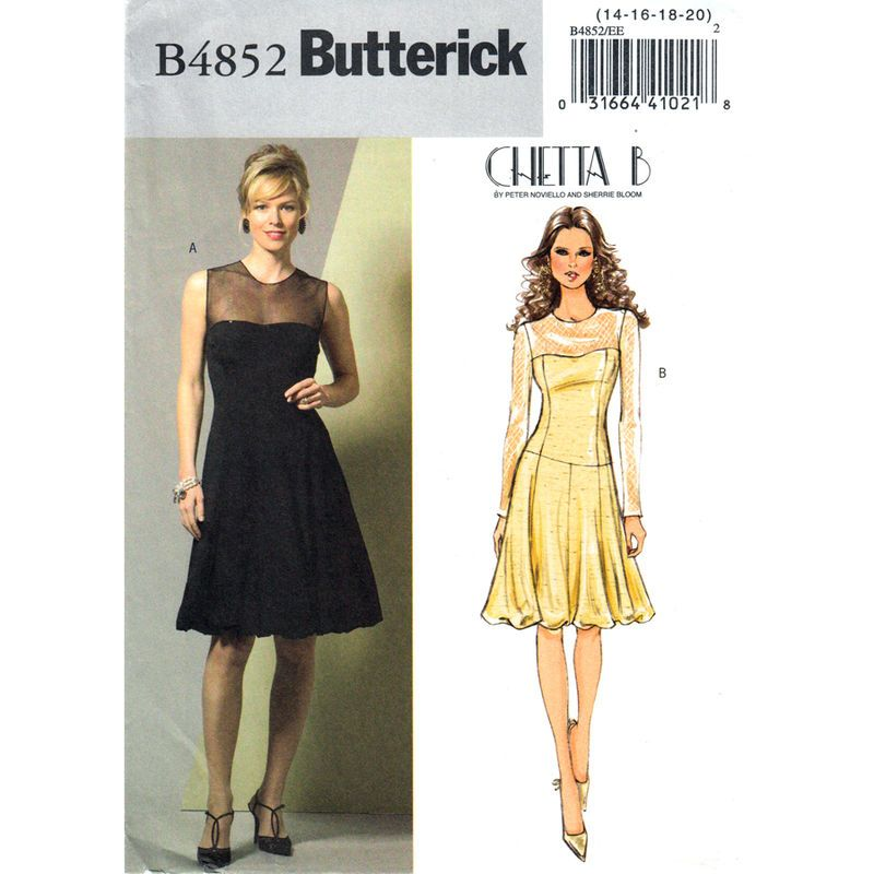 Dress Miss 6 8 10 18 20 22 Butterick Sewing Pattern Easy See Sew Uncut 4852