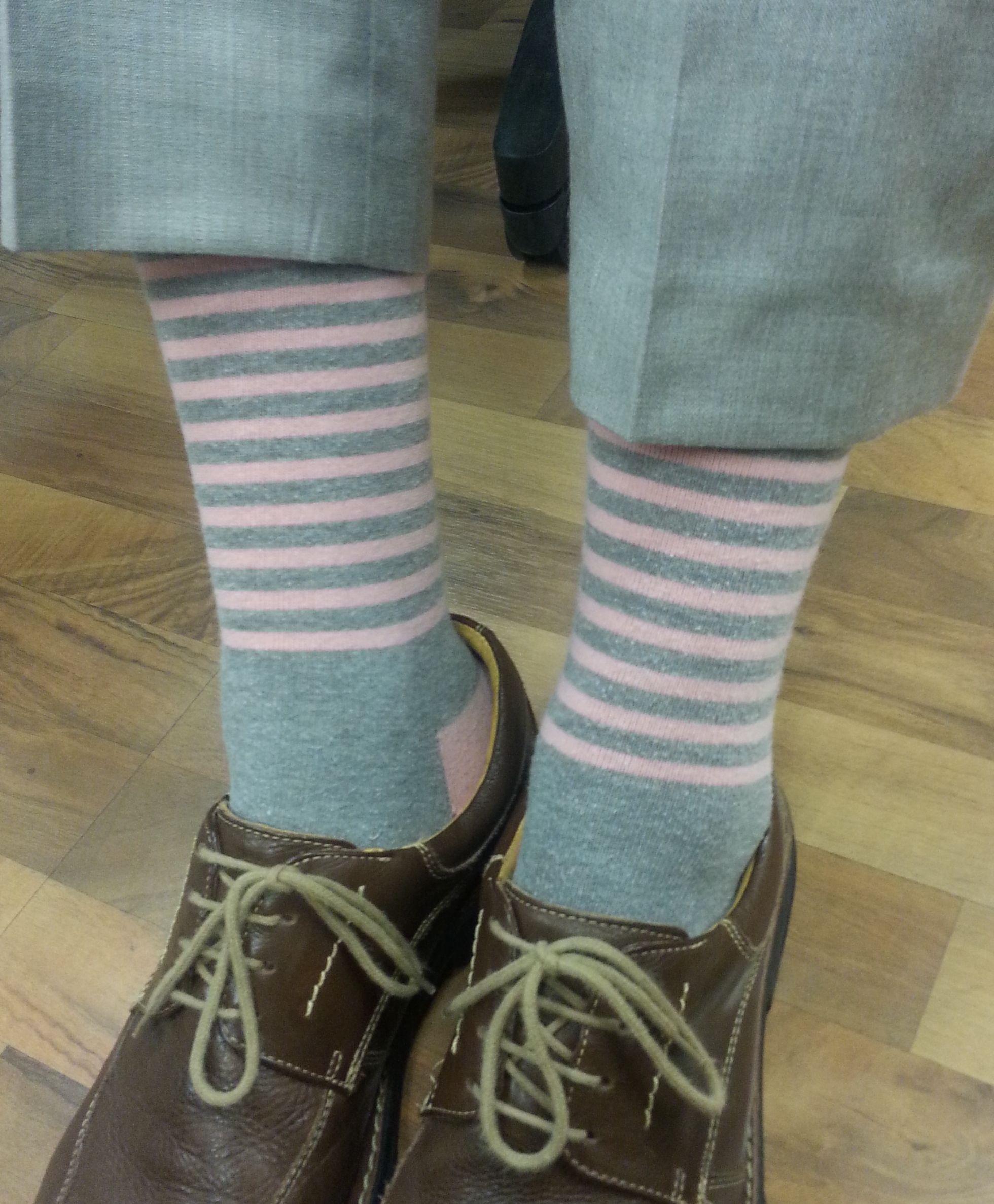 Even Jordan's socks are #pink for Breast Cancer Awareness Month! #PRA