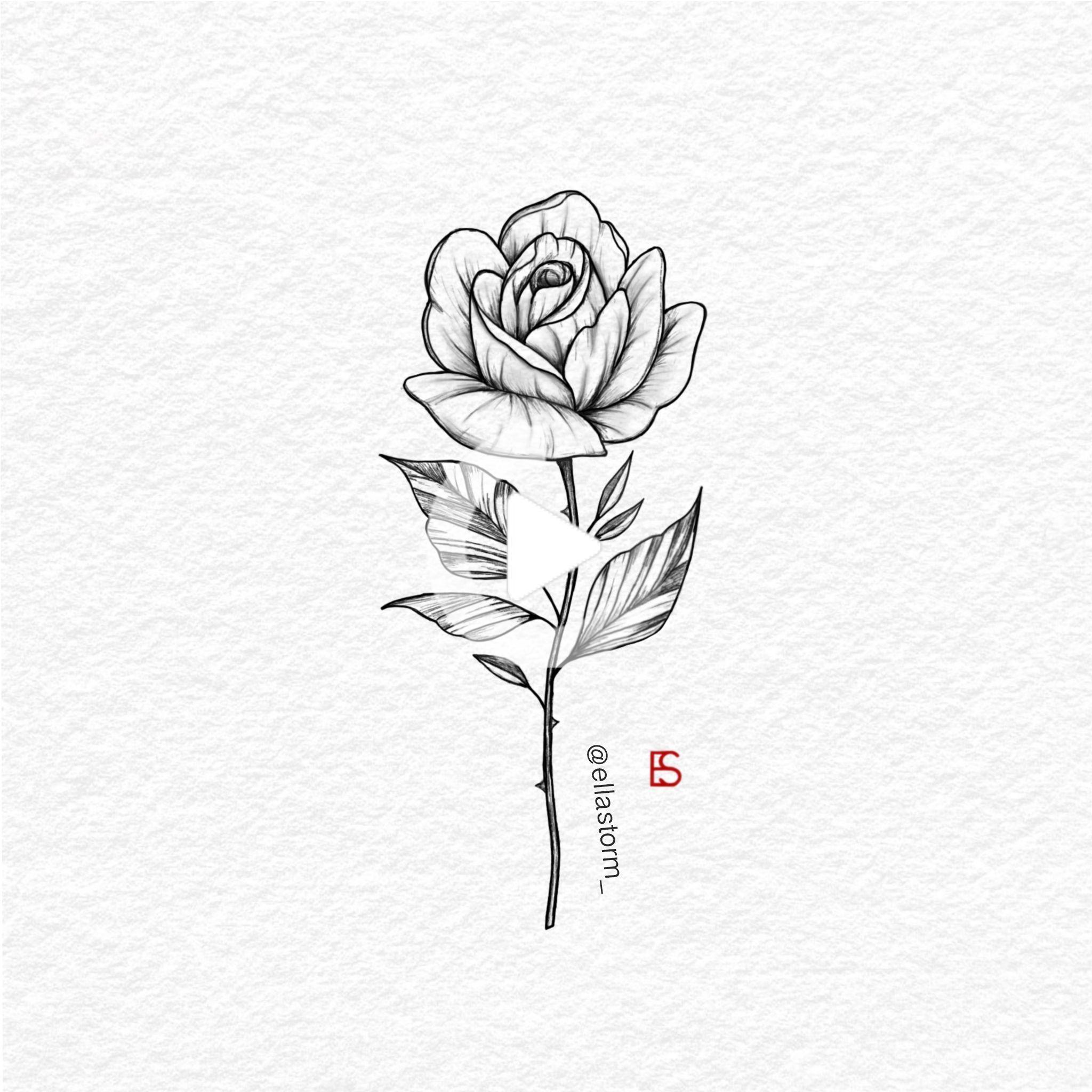 Single Rose Fine Line Tattoo Design By Ella Storm Ellastorm Tatuajes De Rosas Tatuaje Rosa Pequena Tatuaje De Oreja