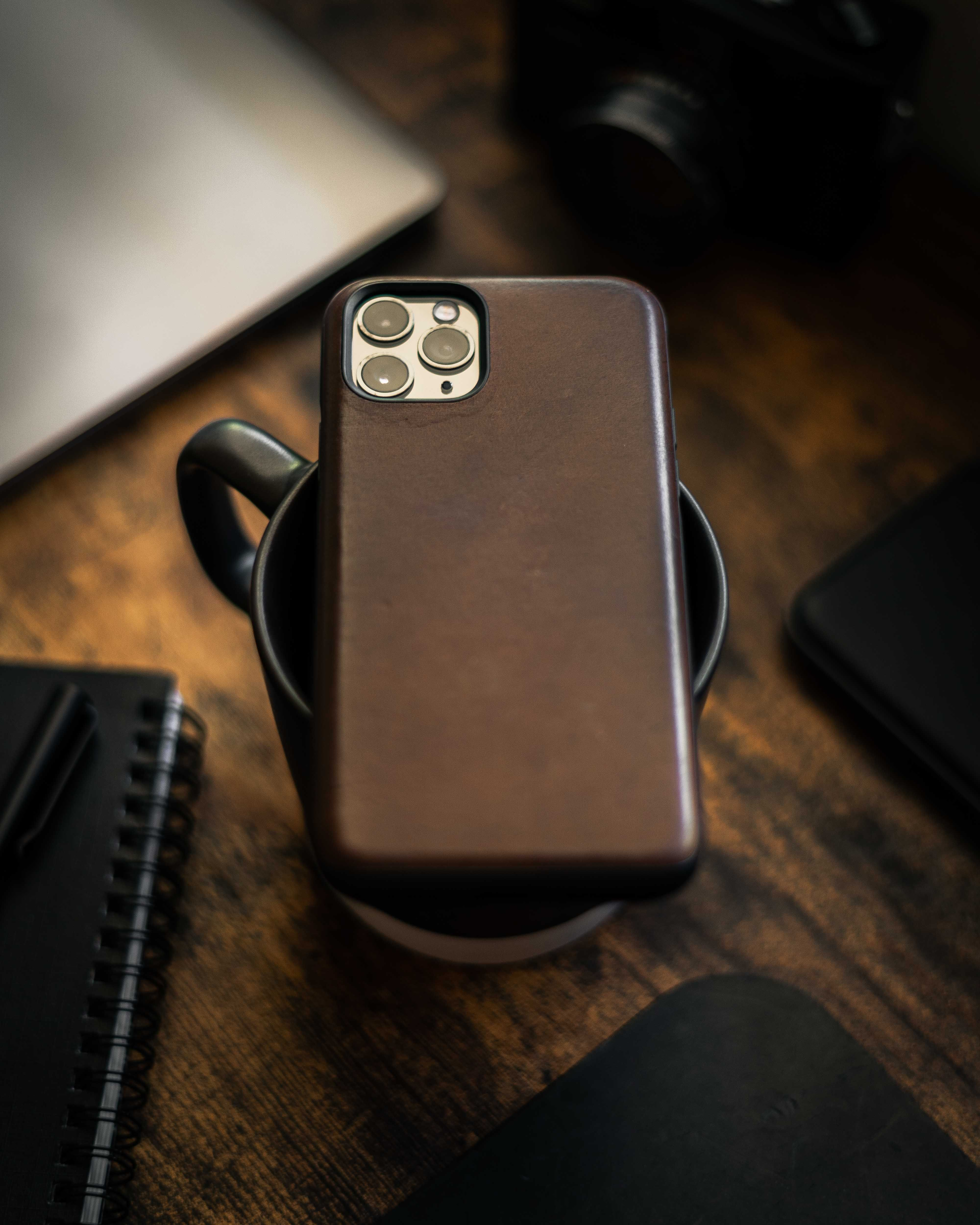 Premium Horween Leather case for iPhone that looks great