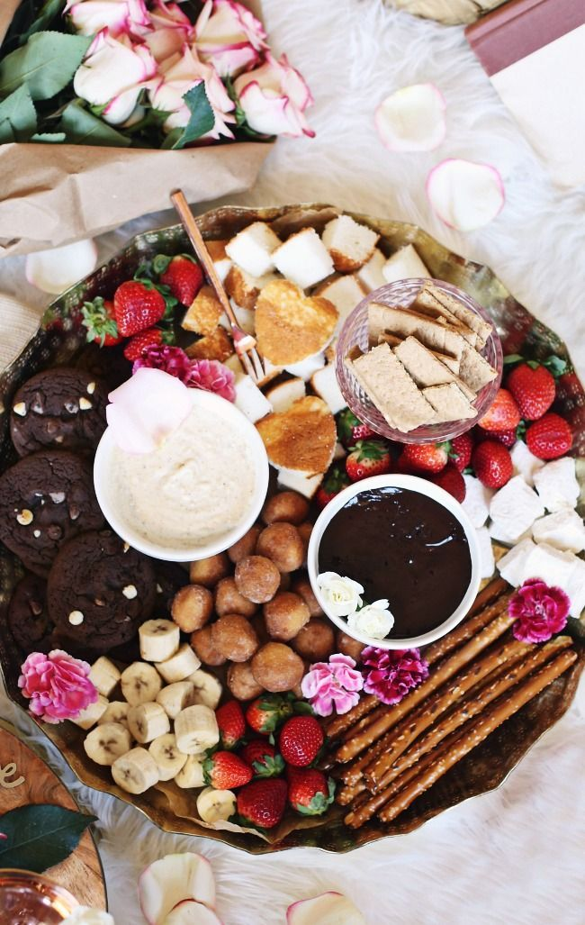 Photo of A dessert fondue plate is the perfect way to chat or … – # …