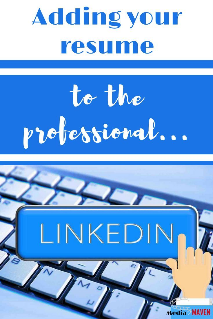 How to add a resume to linkedin public relations