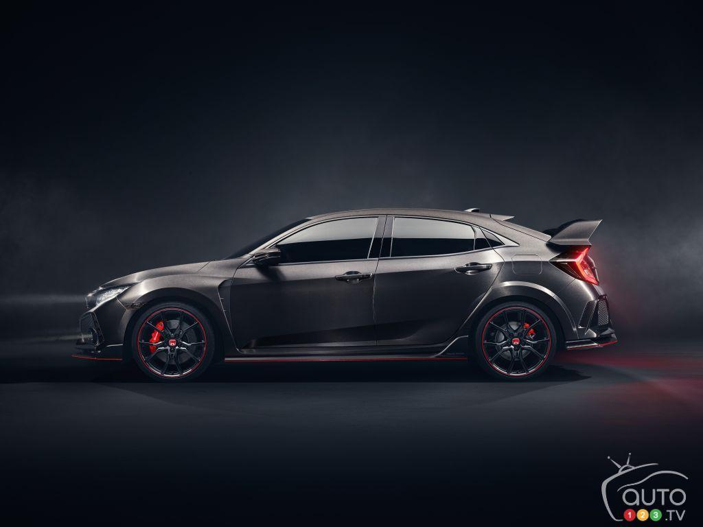 new honda civic type r prototype debuts at paris auto show car rh pinterest com
