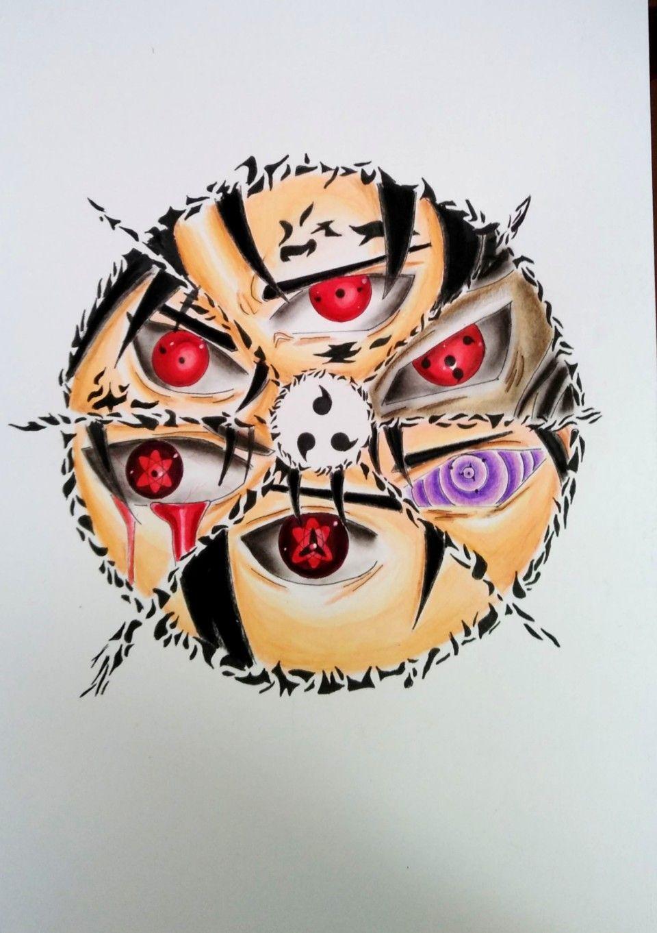Dibujo Todas Las Formas Mangekyou Sharingan Y Rinnegan De Sasuke Drawing Mangekyou Sharingan Sasuke Como Dibujar Personajes Dibujos Mangekyou Sharingan