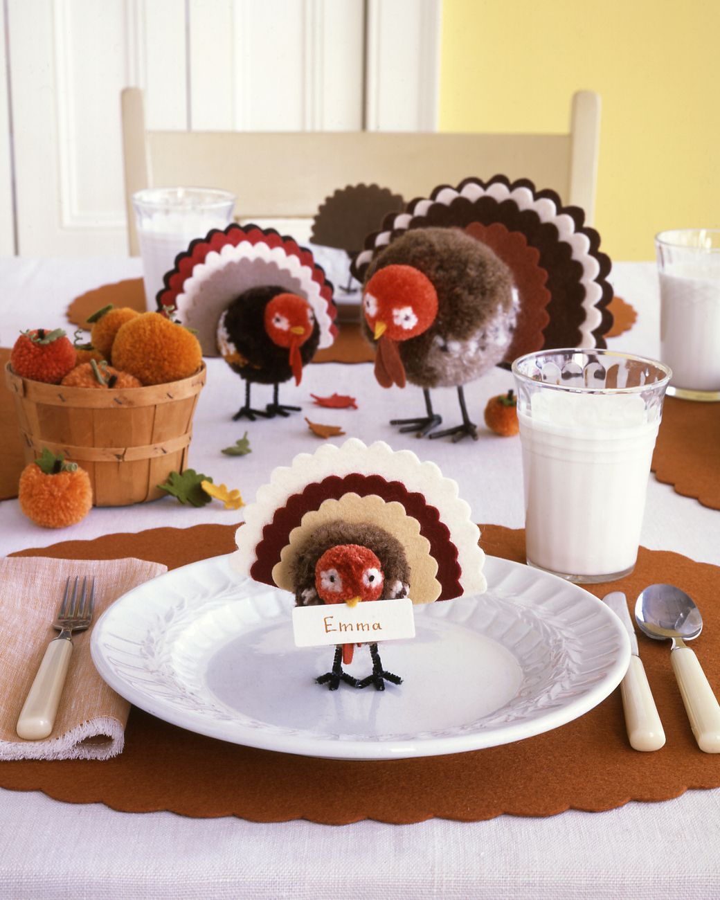 Pom-Pom Tom Decoration | Martha Stewart Living - The only turkey you won't want to gobble up this holiday?