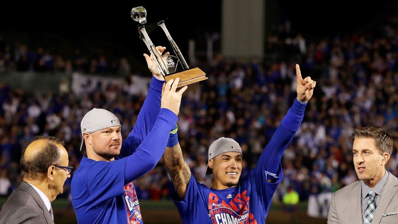 Cubs' Baez, Lester selected as coMVPs of NLCS Chicago