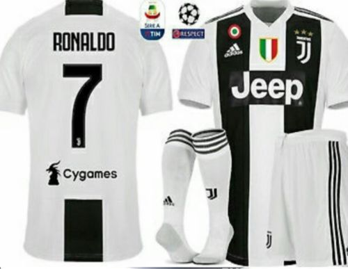 4b489821755 Clothing 33485  Juventus Cristiano Ronaldo Shirt Season 18 19 Patch Serie A  And Champions League