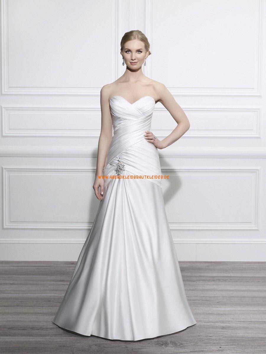 Moonlight Tango A-linie Lange Schöne Brautkleider aus Taft mit ...