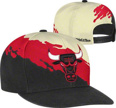 a7094b8ff48 Chicago Bulls Mitchell   Ness Cream Hardwood Classics  Paintbrush   Snapback  Hat  21.99