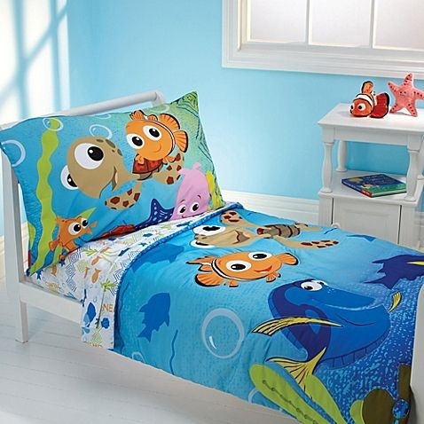 Finding Nemo Toddler Bedding Set Comforter Flat Sheet Fitted And Pillowcase
