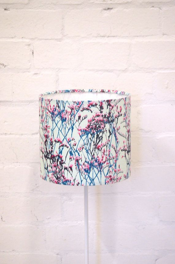 Blue Lampshade Floral Lampshade Blue Home By Shadowbrightlamps Floral Lampshade Blue Lamp Shade Small Bedside Lamps