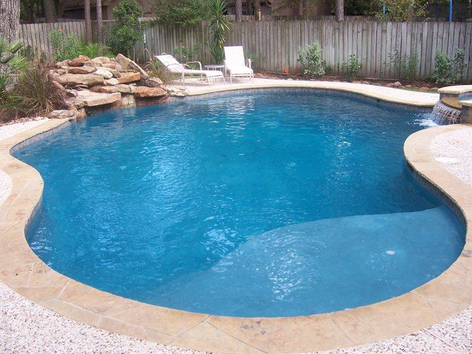 Residential pool 016 pool and spa with waterfall for Pool design okc