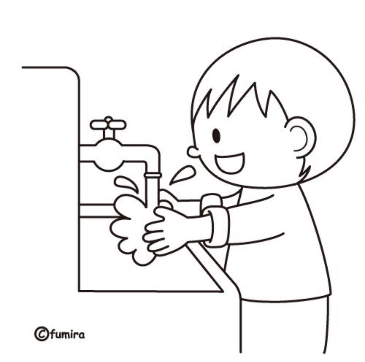 Lavado De Manos Habilidades Adptativas Dibujos Infantiles