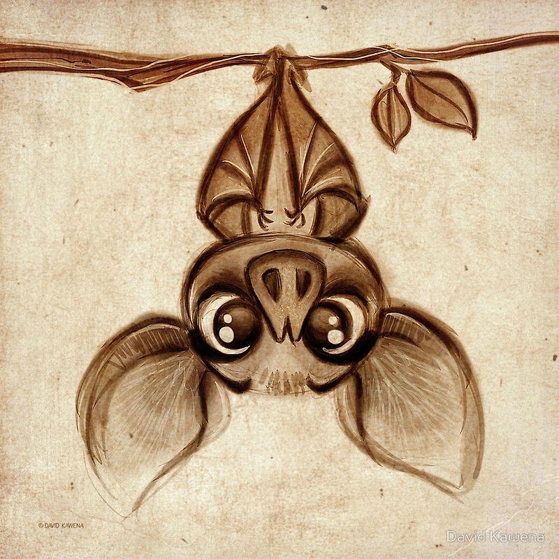 'doodles David Kawena - Bat' Print