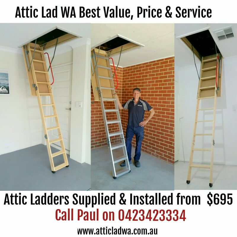 I offer the best value attic ladder installation service in Perth. Please feel free to & I offer the best value attic ladder installation service in Perth ...
